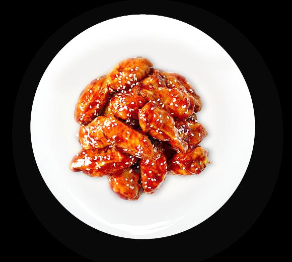 Куриные крылышки, устричный соус, специи.